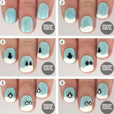 61 Best Winter Nail Art Tutorials Images On Pinterest Christmas