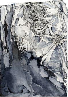 "'Lunar Colony 1' by Tahlia Day | $250 | 7""w x 9.5""h | Original Art | https://www.arttwo50.com/buy/art/lunar-colony-1"