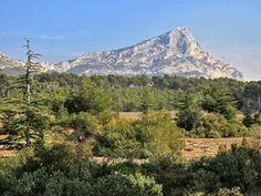 Sainte Victoire moutain, South of France #green #vert #landscape #paysage #tourismpaca #tourismepaca #SainteVictoire #tree #mountain #montagne #Provence