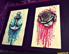 Beautiful dripping art