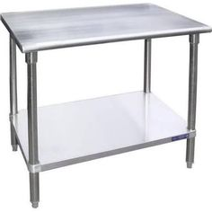 Stainless Steel Work Table Universal SG1848 - 48 x 18 Stainless Steel Work Table w/ Galvanized Under Shelf