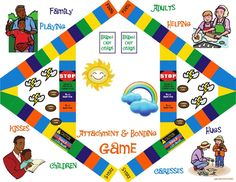 FAVORITE FAMILY THERAPY PRODUCT: Attachment and Bonding Game by Debra Atchison. A wonderful game for caregivers to play with their child to enhance attachment and bonding with one another. Can be used in a family therapy setting or by parents and children at home. Suitable for families with children between the ages of 5-10.     http://www.atchisoncounseling.com/attachment-bonding-game/