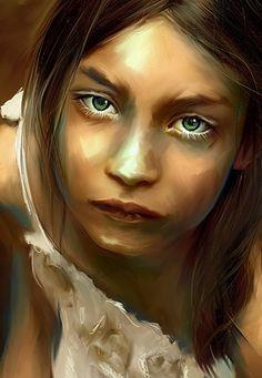 oil portrait- beautiful