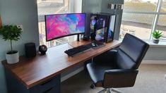 Pc Setup, Desk Setup, Computer Setup, Gaming Setup, Tv Fr, Microsoft Surface, Pc Gamer, Change, 5 Months