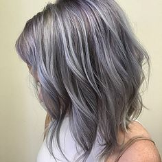 my gray-purple hair #grayhair #purplehair                                                                                                                                                                                 More