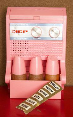 Vintage Radio Spice Rack