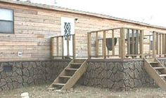 1000 images about mobile home specific on pinterest mobile homes clayton homes and faux stone - Fake brick skirting ...
