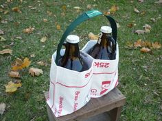 Eco Growler Carrier from Craftbrewers Recycled Art by brewersCRAP