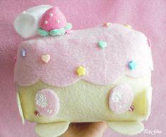 Strawberry/Vanilla Cake Cellphone/Music Electronics Plush Plushie Holder Kawaii Cute Fairy Kei Decora Deco OTT Sweet Lolita Girly Room Decor via Etsy