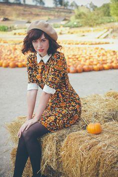 Amy Roiland - Miss Patina Dress - Pumpkin Time! Nerd Fashion, Quirky Fashion, Vintage Fashion, Punk Fashion, Lolita Fashion, Fall Outfits, Cute Outfits, Fashion Outfits, Emo Outfits