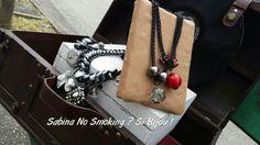 Collane con ciondoli nere e rosse fatte da me a mano creazioni artigianali
