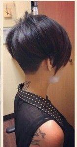 Stoere korte kapsels met een zwarte/donkere haarkleur!