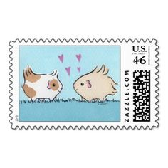 Guinea-pig Love US Postage Stamps