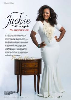 """Jackie Appiah is a Stunning """"Screen Goddess"""" for Glitz Africa's New Issue"""