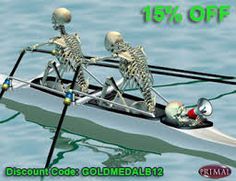 skeleton with rowing oar - Google Search