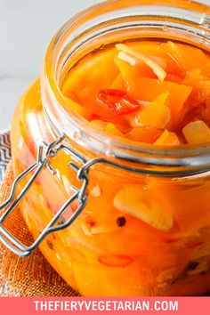 This spicy pumpkin refrigerator pickle comes together in just under 30 minutes to delight your tastebuds with its tangy spicy quick pickled pumpkin goodness! One of the easiest pumpkin recipes you'll ever make this fall, gluten-free savory spicy goodness you won't believe is made with fresh pumpkin, is low-calorie and contains NO oil. Have it today and customize to your tastes, with ginger as a great side to coconut rice and Asian dishes, or without to pair with creamy cheeses Spicy Vegetarian Recipes, Vegetarian Side Dishes, Vegetarian Appetizers, Vegan Main Dishes, Vegan Dinner Recipes, Vegan Recipes Easy, Vegan Pumpkin Bread, Eating Vegetables, Coconut Rice