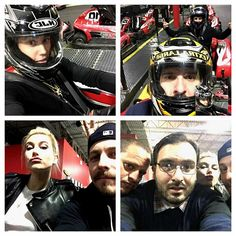 Justin, Hailey, Shots app co-founder John Shahidi, and other pals at the go-karting center posed for fun selfies