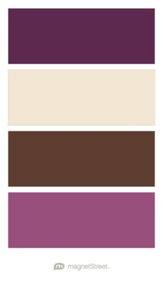 Eggplant, Champagne, Brown, and Mulberry Wedding Color Palette | Wedding Color Trends | MagnetStreet Weddings