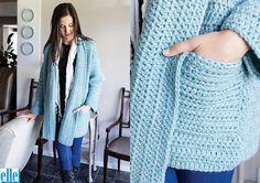 Oversized Jacket (7627) - free crochet pattern by Brenda Grobler at Elle yarns