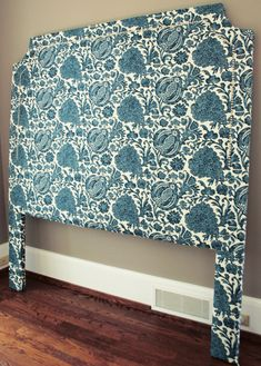 My next big crafty endeavor. upholstered headboard. I like the style of this one. Different fabric, of course.