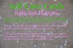 Self Care Cards: Bubble Bath Meditation  |  www.CamerinRoss.com