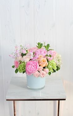 80 best late spring collection images on pinterest garden roses spring green hydrangea fresh mint and scented geranium in our white glass mightylinksfo