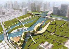 'Water Memory' – Rethinking Shanghai Competition Proposal / Ayrat Khusnutdinov, Zhang Liheng, Alexey Bychkov