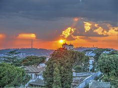 Sunset view at the Hotel Eden, Rome, Italy