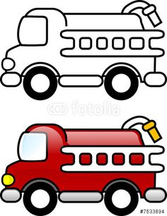 fire truck pattern use the printable outline for crafts creating rh pinterest com Fire Truck Cartoon Clip Art Fire Truck Silhouette Clip Art