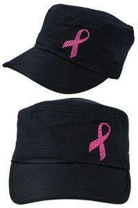 Pink Ribbon Dazzle Military Cap  Originally  14.95 87dcbf236dae