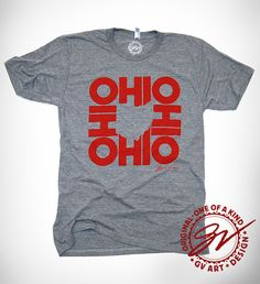 """""""All In Ohio"""" T shirt - GV Art and Design"""