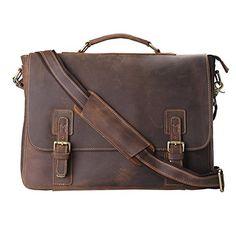 """Kattee Men's Leather Satchel Briefcase, 16"""" Laptop Messen... https://www.amazon.com/dp/B00KHGKGZG/ref=cm_sw_r_pi_dp_x_Eal6xbZA45XKT"""