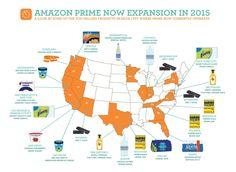아마존 프라임 나우 서비스 지역 & Top-selling Products Source: webpronews