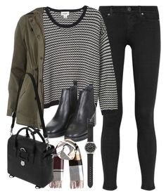 """""""Outfit with a jumper for winter"""" by ferned on Polyvore featuring Paige Denim, Monki, Dorothy Perkins, Topshop, River Island, Mulberry and J.Crew"""