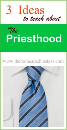 Ideas to Help Teach About the Priesthood These are great ideas for home or class! You can totally adapt these for all ages.These are great ideas for home or class! You can totally adapt these for all ages. Lds Primary Lessons, Fhe Lessons, Family Home Evening Lessons, Sunday School Lessons, Church Activities, Indoor Activities, Summer Activities, Family Activities, Red Headed Hostess