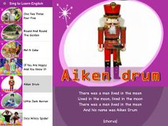 Sing to Learn English 4 - The world's first flashcard-inspired English children songs app • One Two Three Four Five • Round And Round The Garden • Pat A Cake • If You Are Happy And You Know It • Aiken Drum • Little Jack Horner • Incy Wincy Spider