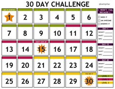 I made this free printable 30 day challenge calendar for anyone to use for their health and wellness journey. It works great with the Jillian Michaels 30 Day Shred exercise program.   As u successfully finish a day, simply cross it out. This chart also allows you to keep track and see your progress by making note of some basic measurements along the way.  Enjoy!  #30dayshred #12thehardway #jillianmichaels #calendar #fitness #exercise