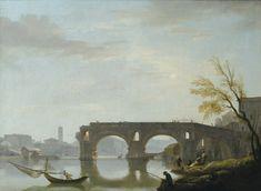 クロード・ジョセフ・ヴェルネ (Claude-Joseph Vernet) 「View of the Ponte Rotto」