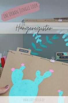 DIY-Bastelanleitung im Urban Jungle Look mit den Kreativmarkern von PILOT PEN zum Nachmachen. Hübsche Methode für ein aufgeräumtes Büro und Arbeitszimmer. Schluss mit unübersichtlicher Ablage. #diy #pilotpen #basteln #ordnung #aufräumen Diy Projects To Try, Design Projects, Marker, Art And Craft, Diy Inspiration, Diy Design, Origami, Diy Home Decor, House Design