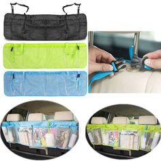 Car Back Seat Organizer Storage Bag Kick Mat Protector Tissue Box Travel holder…