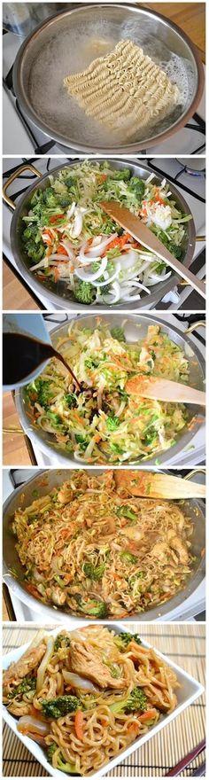 Healthy Food Queen: Chicken Yakisoba