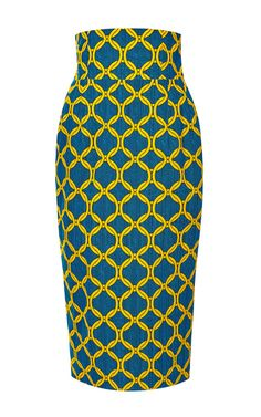 Printed Cotton Pencil Skirt by Stella Jean Now Available on Moda Operandi
