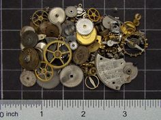 Mixed lot of vintage watch parts brass by SteampunkArtSupplies