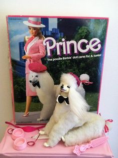 barbie toy I had this giant poodle named Prince. He didnt crap all over like the ones they have now days! Barbie Dream, Barbie Dog, 1980s Barbie, Barbie And Ken, Vintage Barbie, Vintage Dolls, My Childhood Memories, Childhood Toys, Barbie Furniture