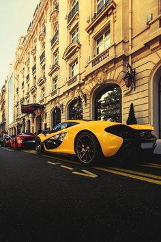 "italian-luxury: ""Heavyweights: Mclaren x Ferrari LaFerrari x Bugatti Vitesse "" Cool Sports Cars, Sport Cars, Cool Cars, Ferrari Laferrari, Lamborghini, Bugatti, Top 10 Supercars, Mclaren P1, Yellow Car"