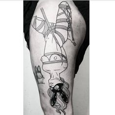Finally got to start this piece on @evil__chef today. Thanks! #blackwork #tattoo #shibari #bondage
