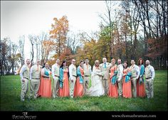 Ironstone Ranch wedding photo - bridal party in field