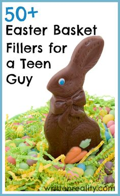 Need ideas for a guy who's outgrown silly putty and sidewalk chalk? Check out this AWESOME List of 50+ Easter Basket Fillers for a Teen Guy