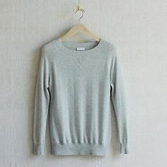 Knitted Sweatshirt - Silver Grey Marl   The White Company