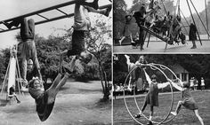 When playtime wasn't ruled by 'elf and safety: Photos show how children had fun before the industry took over :)